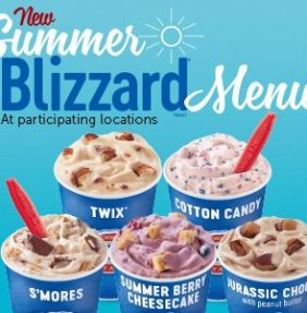 Summer Blizzard Menu is Here!