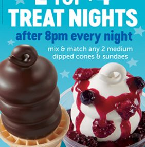 2 for $4 Treat Nights